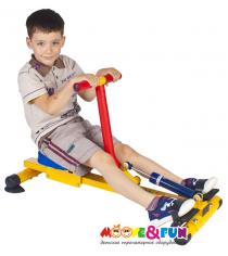 Детский гребной тренажер с одной рукояткой SH-04-A Moove&Fun
