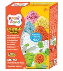 Набор для творчества Angel Sand Оранжевый 0,6 с формочками MA07013x...