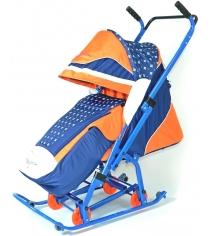 Детские санки коляска R-Toys Скользяшки Мозаика 0913-Р14