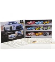 Блокнот с трафаретами Nissan GT-R Design Masters 7007