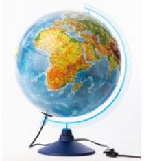 Globen Земли физико-политический рельефный 320 с подсветкой