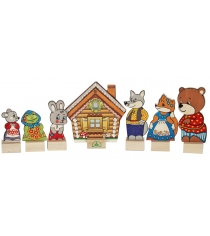 Игровой набор Краснокамская игрушка Персонажи сказки Теремок Н-10