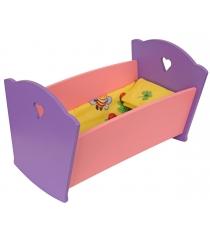 Набор кукольной мебели Краснокамская игрушка Кроватка с постельным бельем КМ-02