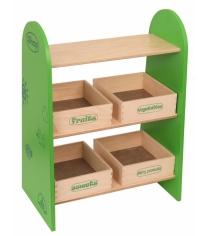 Набор кукольной мебели Краснокамская игрушка Магазин с четырьмя ящичками КМ-04