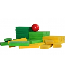 Деревянный конструктор Краснокамская игрушка Эффект домино К-05