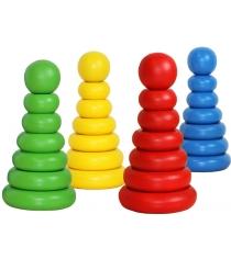 Пирамидка Краснокамская игрушка Одноцветная ПИР-19
