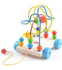 Деревянные развивающие игрушки Lucy Leo лабиринт каталка артикул LL109