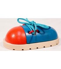Деревянная развивающая игрушка МДИ Шнуровка Ботинок Д230