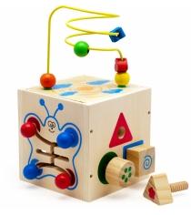 Деревянная развивающая игрушка МДИ Куб-лабиринт 5 в 1 Д375