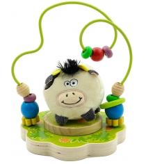 Деревянная развивающая игрушка МДИ Лабиринт Буренка Д384