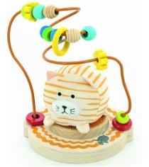 Деревянная развивающая игрушка МДИ Лабиринт Мурлыка Д387