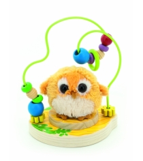 Деревянная развивающая игрушка МДИ Лабиринт Совушка Д388