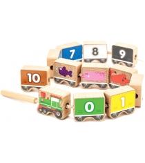 Игровой набор МДИ Паровозик шнуровка цифры Д401
