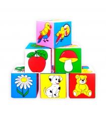 Развивающие кубики Мякиши предметы артикул 1