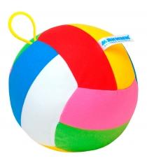 Мягкая развивающая игрушка Мякиши Мяч с погремушкой Шалун 46