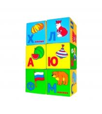 Развивающие кубики Мякиши азбука в картинках артикул 207