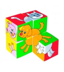 Развивающие кубики Мякиши собери картинку домашние животные артикул 209