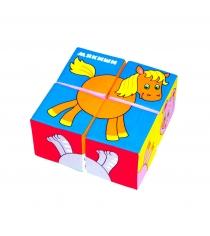 Развивающие кубики Мякиши собери картинку животные 2 артикул 236