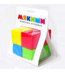 Развивающие кубики Мякиши 4 цвета артикул 332