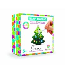 Набор для творчества Шар-папье Елочка в коробке со стразами В02533