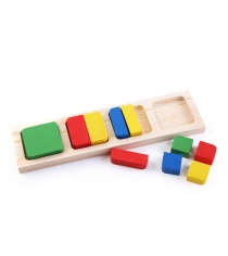 Деревянная развивающая игрушка Томик Геометрия квадрат 332