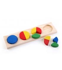 Деревянная развивающая игрушка Томик Геометрия круг 342