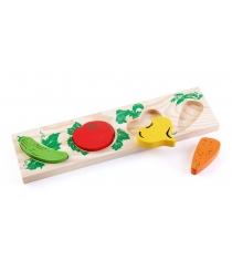 Деревянная развивающая игрушка Томик Овощи 372-2