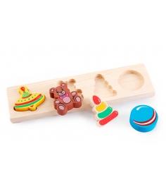 Деревянная развивающая игрушка Томик Игрушки 451...