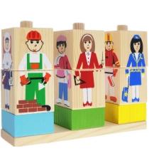 Развивающие кубики Томик на палочке профессии 4545-5