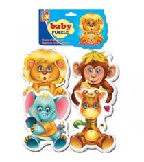 Пазлы для малышей Vladi Toys зоопарк артикул VT1106-10