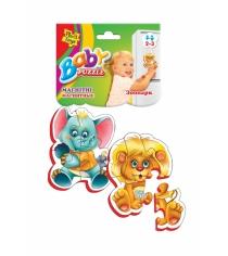 Пазлы для малышей Vladi Toys магнитные беби пазлы зоопарк артикул VT3208-01