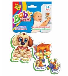 Пазлы для малышей Vladi Toys магнитные беби пазлы домашние любимцы артикул VT320...