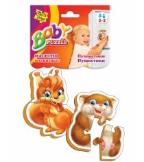 Пазлы для малышей Vladi Toys магнитные беби пазлы пушистики артикул VT3208-04