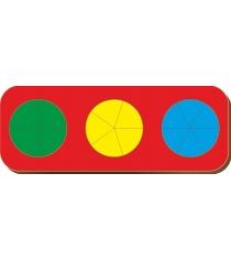 Рамка-вкладыш Woodland Дроби 3 круга, уровень 1 61102