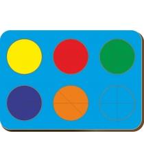 Рамка-вкладыш Woodland Дроби 6 кругов уровень 1 61201