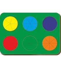 Рамка-вкладыш Woodland Дроби 6 кругов уровень 2 61202