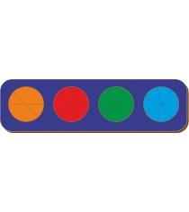 Рамка-вкладыш Woodland Дроби 4 круга уровень 2 61402