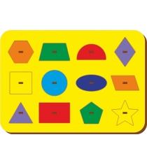 Рамка-вкладыш Woodland Монтессори геометрия 1 82101