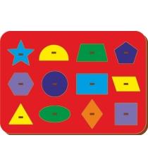 Рамка-вкладыш Woodland Монтессори геометрия 3 82104