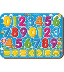 Рамка-вкладыш Woodland Изучаем цифры с знаками 91203