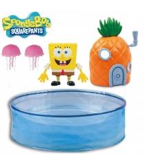 Игровой набор Плавающий Спанч Боб с аквариумом и домиком Robofish 5302
