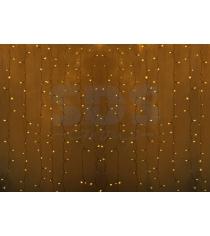 Новогодняя гирлянда дождь Led Neon Night, 2х1,5м, провод silicon, цвет желтый 23...