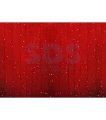 Новогодняя гирлянда дождь Led Neon Night, 2х1,5м, провод silicon, цвет красный 235-302