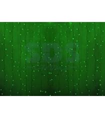 Новогодняя гирлянда дождь Led Neon Night, 2х1,5м, провод silicon, цвет зеленый 2...