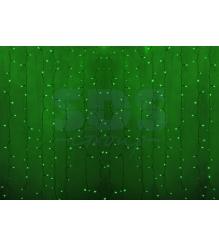 Новогодняя гирлянда дождь Led Neon Night, 2х1,5м, провод silicon, цвет зеленый 235-304