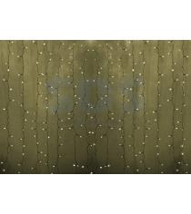 Новогодняя гирлянда дождь Led Neon Night, 2х1,5м, провод silicon, цвет теплый бе...