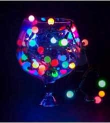 Новогодняя гирлянда Neon-night Мультишарики LED, мульти 10 м с контроллером 80 диодов 303-509-6