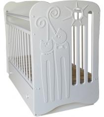 Кроватка для новорожденного Островок уюта Ля Мур белый