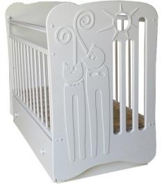 Кроватка для новорожденного Островок уюта Ля Мур белый...