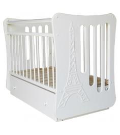 Кроватка маятник Островок уюта Вояж белый
